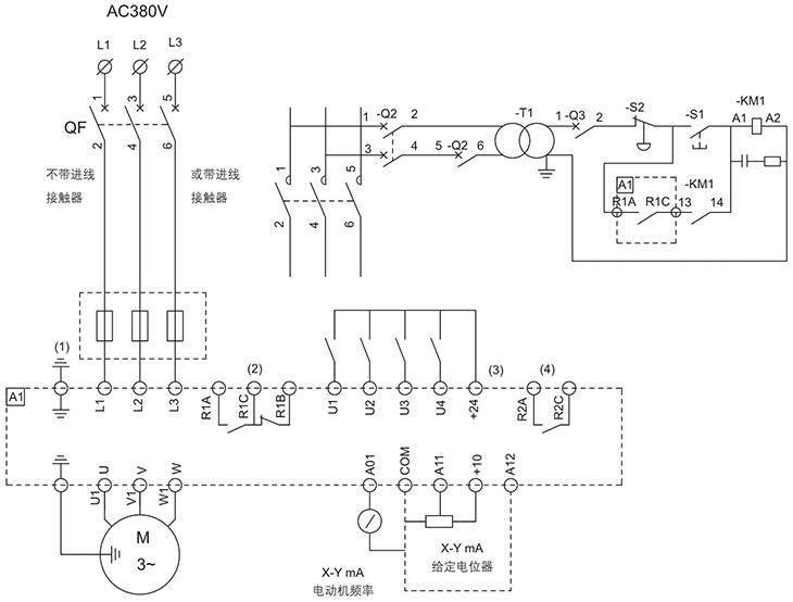 BQP系列防爆变频器电器原理图