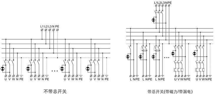 BXM(D)系列防爆照明(动力)配电箱电器原理图