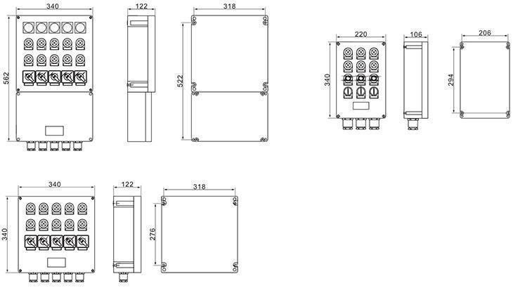 ZXF8044系列防爆防腐控制箱控制箱元件分布图