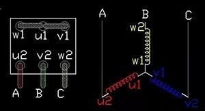 防爆电机星型接法原理图