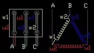 防爆电机三角接法原理图