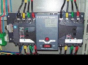 双电源防爆配电箱内实物接线图