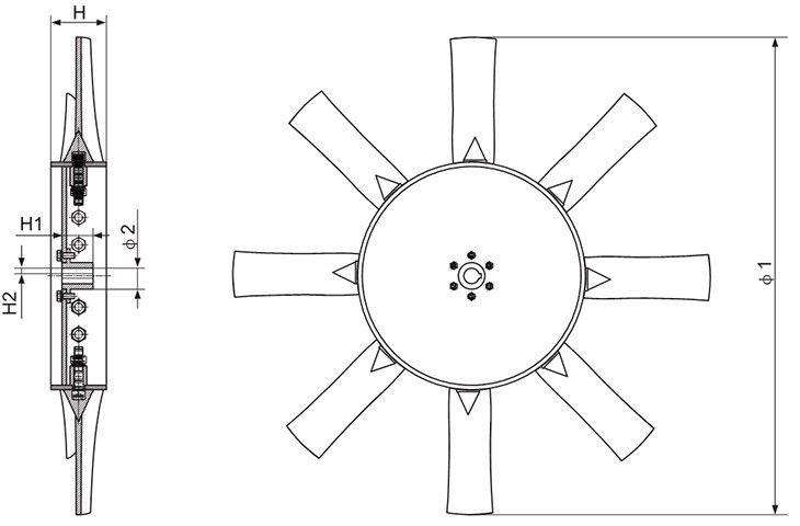 8-11.2号机叶轮系统