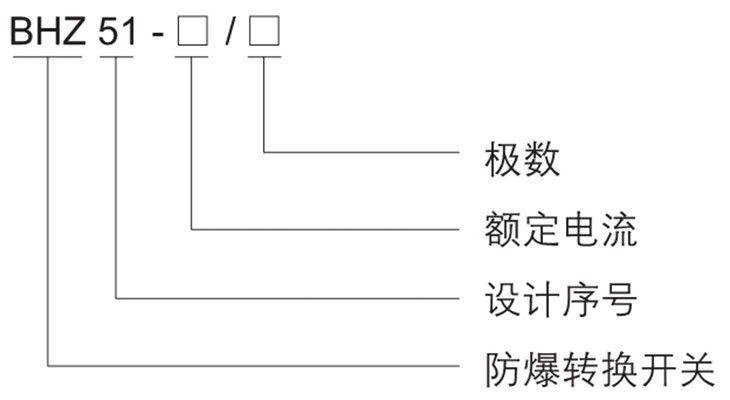 BHZ51系列防爆转换开关型号含义