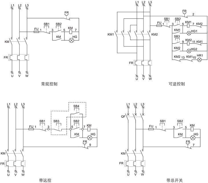 BQC系列防爆电磁起动器电器原理图