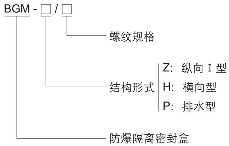 BGM系列防爆隔离密封盒型号含义