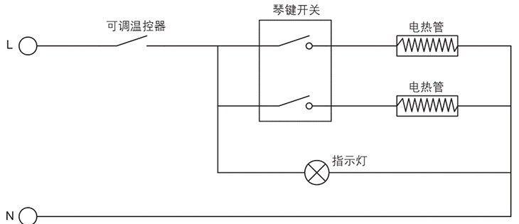 BYT系列防爆热油汀电器原理图
