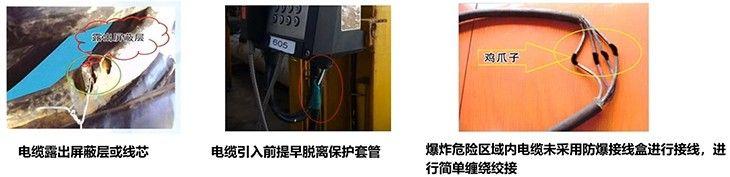 防爆电气设备线缆隔离密封不符合要求